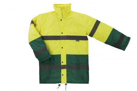 Parka alta visibilidad bicolor Amarillo.Verde