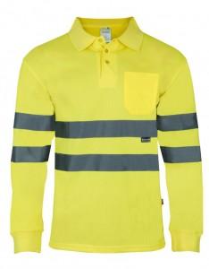 Polo M/Larga transpirable amarillo fluor