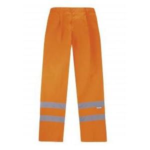 Pantalón naranja 2 Cintas reflectantes