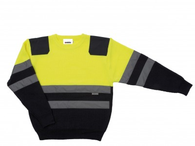 Jersey Bicolor con refuerzos amarillo/marino