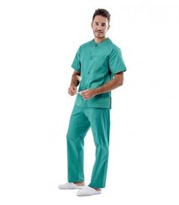 Pijama sanitario verde cuello redondo