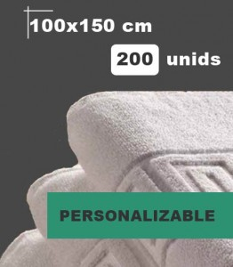 Toalla blanca de lavabo personalizable fabricacion propia
