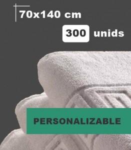 toalla blanca personalizable baño ducha