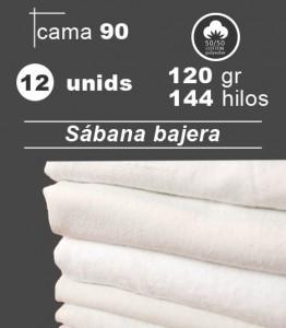 sabana blanca bajera cama 90 hosteleria hospital residencia pack