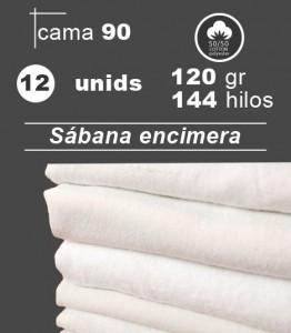 sabana blanca encimera cama 90 hosteleria hospital residencia pack