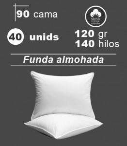 Funda de almohada blanca cama 90 hoteles hospitales apartamentos