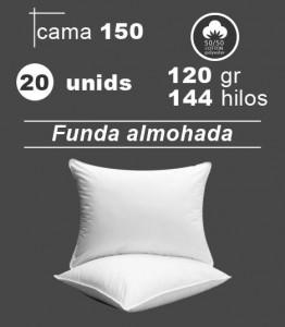 Funda de almohada blanca cama 150 hoteles hospitales apartamentos