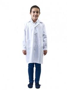 Bata infantil laboratorio blanca