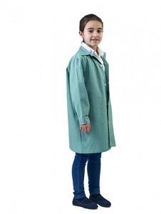 Bata infantil laboratorio verde
